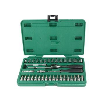 世达公制套筒组套,6.3mm系列38件套,09002