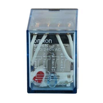欧姆龙OMRON 继电器,LY4-J 14脚 AC200/220V