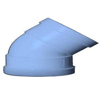 川隆牌 U-PVC45°弯头 160*45°