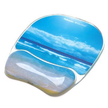 范罗士Fellowes 热带风情系列鼠标垫, 蔚蓝海岸 91793 单位:块