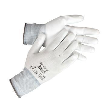 Ansell 48-100-10 PU掌部涂层手套,白色,12副/打