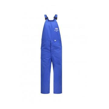 雷克兰 HRC 4级 48Cal/cm2 防电弧背带裤,蓝色,XL(DH经济面料)
