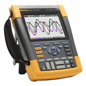 福禄克/FLUKE 彩色数字示波器,200MHz,4通道 DMM/外部输入,随附SCC-290套件,FLUKE-190-204/S
