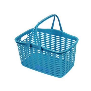 西域推荐 塑料篮筐,39*26*23cm,红绿蓝三色随机发货