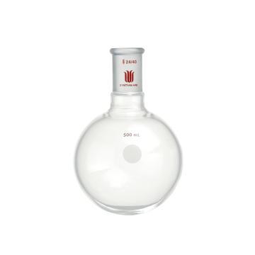 单颈圆底球瓶,厚壁高强度,磨口:24/40,500ml