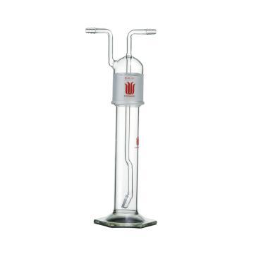 气体洗瓶,具砂板500ml,总高约380mm,X-C砂板