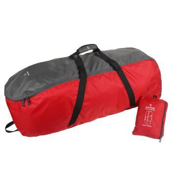MASCOMMA 旅行/運動折疊收納包, BS00503/RGY 大號 (紅灰) 單位:個