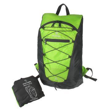 MASCOMMA 雙肩背抽繩折疊收納包, BS00203/GGY (綠灰) 單位:個
