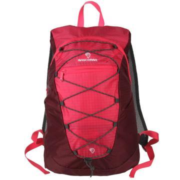 MASCOMMA 雙肩背抽繩折疊收納包, BS00203/RRD (雙色紅) 單位:個