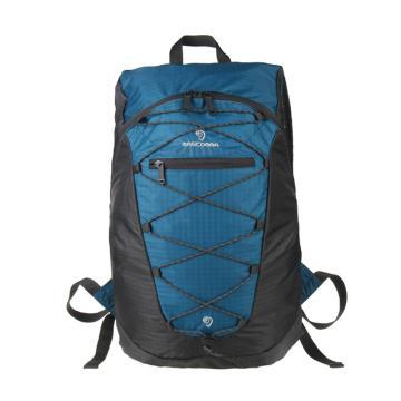 MASCOMMA 雙肩背抽繩折疊收納包, BS00203/BGY (藍灰) 單位:個