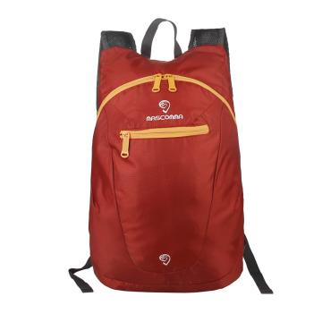MASCOMMA 雙肩背輕便折疊收納包, BS00804/RD (磚紅) 單位:個