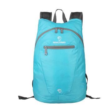 MASCOMMA 雙肩背輕便折疊收納包, BS00804/BU (湖藍) 單位:個