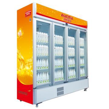 四门冷藏立式饮料柜,澳柯玛,SC-1209B,0-10℃,1900*657*1983