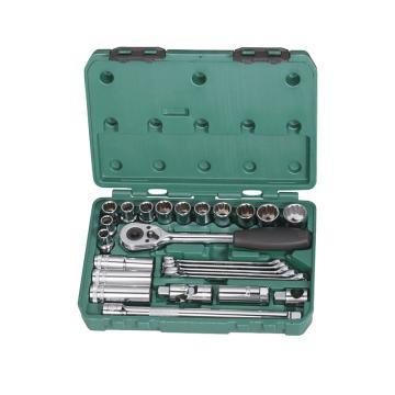 工具套装,世达 12.5mm系列公制25件套,09506