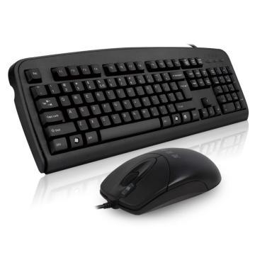 雙飛燕A4tech 有線鍵鼠套裝, KB-8620F (黑色) 單位:套(售完即止)