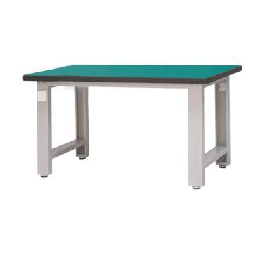 信高 重型工作台, 1.5m 承载1吨 台面厚40mm,灰色桌架(RAL7035),绿色台面,不含安装费,安装费请另询
