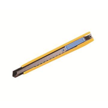 易达小号美工刀,(塑料筒装)9mm 黄