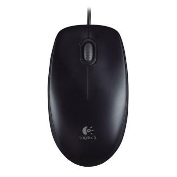 羅技Logitech有線鼠標, M100R USB (黑色) 單位:個