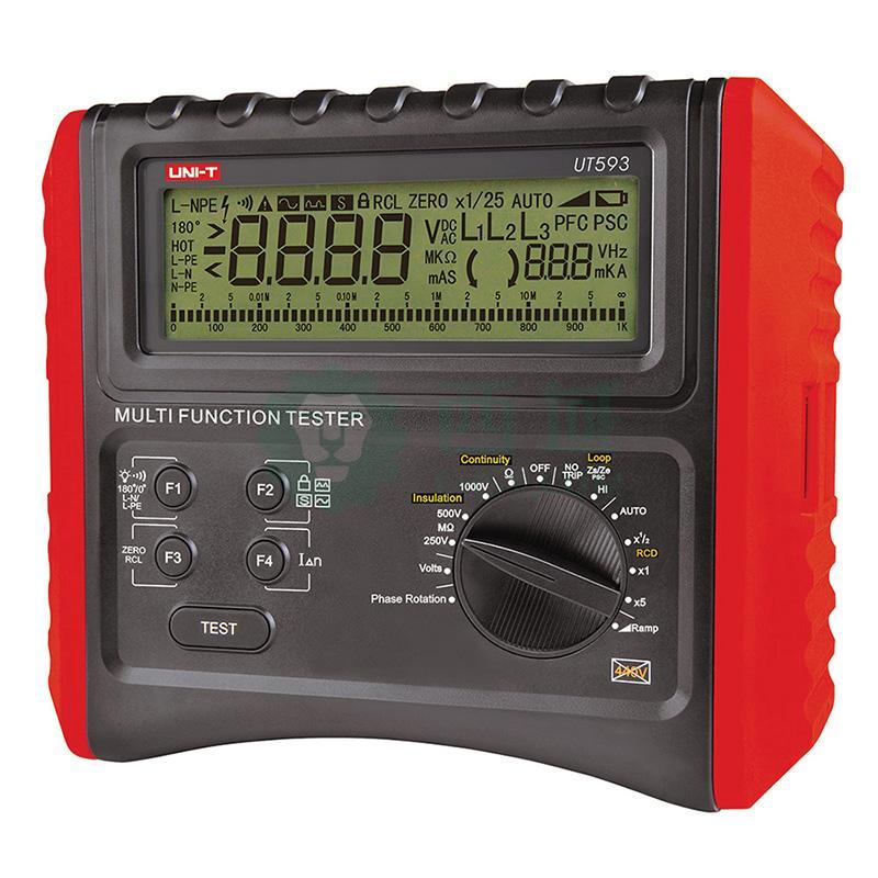 UT590系列数字多功能电气安全综合测试仪表,整机以智能微控芯片为核心,并配以全功能保护电路设计,主要完成(RCD)漏电保护器开关,环路/线路阻抗、低电阻连续性测试、绝缘电阻、直流电压、交流电压等参数测量;功能更全,准确度更高,性能稳定,操作方便、使用安全可靠。 可广泛应用于住宅、工业、电力、厂矿等行业的建筑电气安装、检验和维修,对该类用户来讲,UT590系列数字多功能电气安全综合测试仪表是你理想的选择。