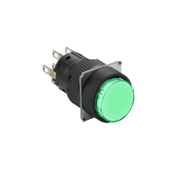 施耐德Schneider 自复位按钮,XB6EAA32F 圆形 绿色 2NO/NC