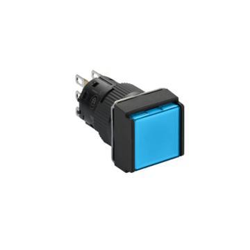 施耐德Schneider 自锁定带灯按钮,XB6ECF6B1F 方形 蓝色 24V 1NO/NC(5的倍数订货)