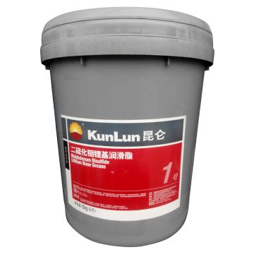 昆侖 潤滑脂,二硫化鉬 鋰基 潤滑脂1號,15kg/桶