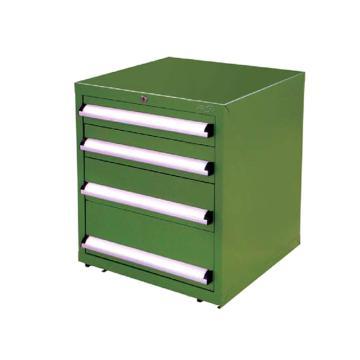 信高 固定式工具柜,(四个抽屉)90kg 绿色