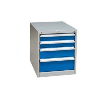 信高 固定式工具柜,(四个抽屉)100kg 灰色