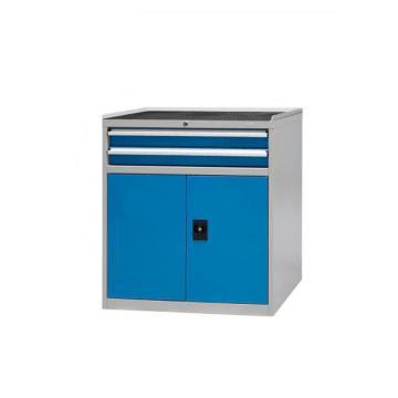 信高 固定式工具柜(两个抽屉+门柜)蓝色
