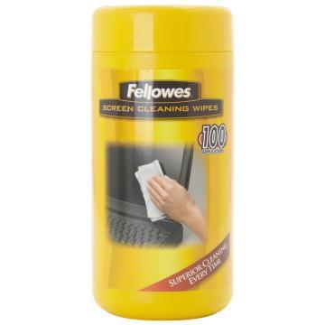 范罗士Fellowes 专业屏幕清洁纸巾, CRC99703 单位:瓶