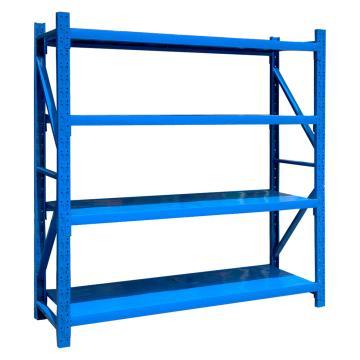 至腾 中型货架主架,尺寸(长*宽*高mm):1500*600*1800(四层搁板,200KG/层,蓝色),安装费另询