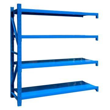 至腾 中型货架副架,尺寸(长*宽*高mm):1500*600*2000(四层搁板,200KG/层,蓝色),安装费另询