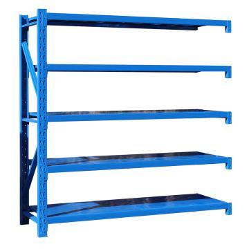 至腾 中型货架副架,尺寸(长*宽*高mm):2000*600*2000(五层搁板,300KG/层,蓝色),安装费另询