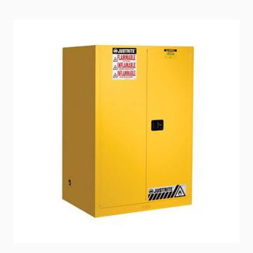 JUSTRITE/杰斯瑞特 黄色易燃液体存储柜,FM认证,45加仑/170升,双门/手动,8945001