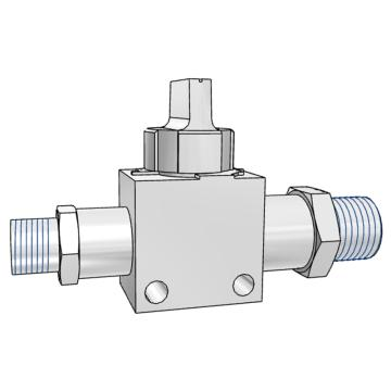 "SMC 3通热塑球阀,VHK3两端外螺纹,螺纹R3/8""*R3/8"",VHK3-03S-03S"