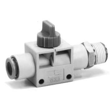 SMC 2通热塑球阀,VHK2插管流向螺纹,接管6MM,螺纹M5,VHK2-06F-M5