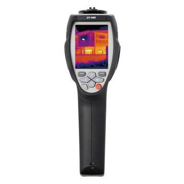 华盛昌红外热像仪,DT-980,量程:-20~350℃,热灵敏度:≤0.1℃,分辨率:80x80,图像帧频:50Hz,电容触摸屏。1-20倍连续变焦,非制冷焦平面探测器,手动/自动/直方图.USB和SD卡输出,IP65防护等级、2米防摔