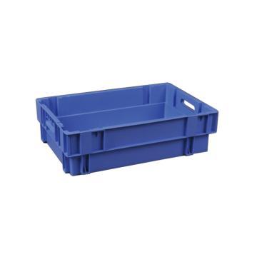 环球 反转套叠平底箱,尺寸(mm):600X400X170,蓝色