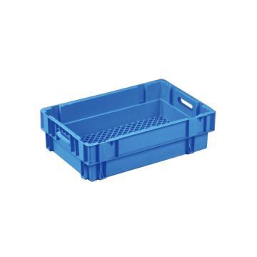 环球 反转套叠网格箱,尺寸(mm):600X400X170,蓝色