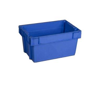 环球 反转套叠箱,尺寸(mm):600X400X300,平底,蓝色
