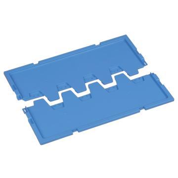 环球 折叠周转箱对开盖,尺寸(mm):650*440,蓝色