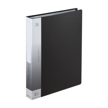 齊心 資料冊,A4 60頁 無襯紙 NF60AK(黑色) 單個