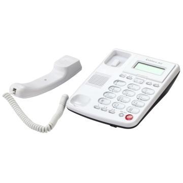 齐心 电话机,好视角大按键 白,T333