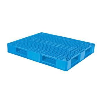 西域推薦 塑料托盤,網格雙面,尺寸(mm):1200*1000*150,藍色 動載1.2T 靜載5t, 貨架0.8t