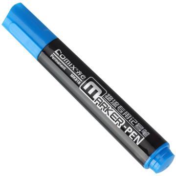 齐心记号笔, 物流,蓝,12PCS/盒  MK818