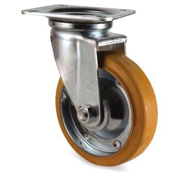 南星 防静电VE橡胶平板安装活动脚轮,载重200Kg 5006-1-T2-VE