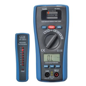 华盛昌/CEM 多功能检测仪,二合一LAN测试仪与万用表,LA-1011