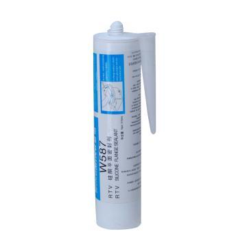 威伏 硅橡胶平面密封胶,威伏W587,310ml/支【蓝色,通用型】