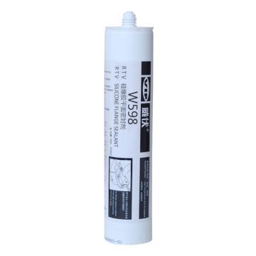 威伏 硅橡胶平面密封胶,威伏W598,310ml/支【黑色,通用型】