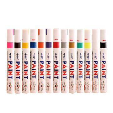 中柏 記號筆,油性記號筆,SP-110 銀色 12支/盒 單位:盒